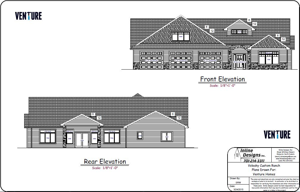 Front & Back Elevations